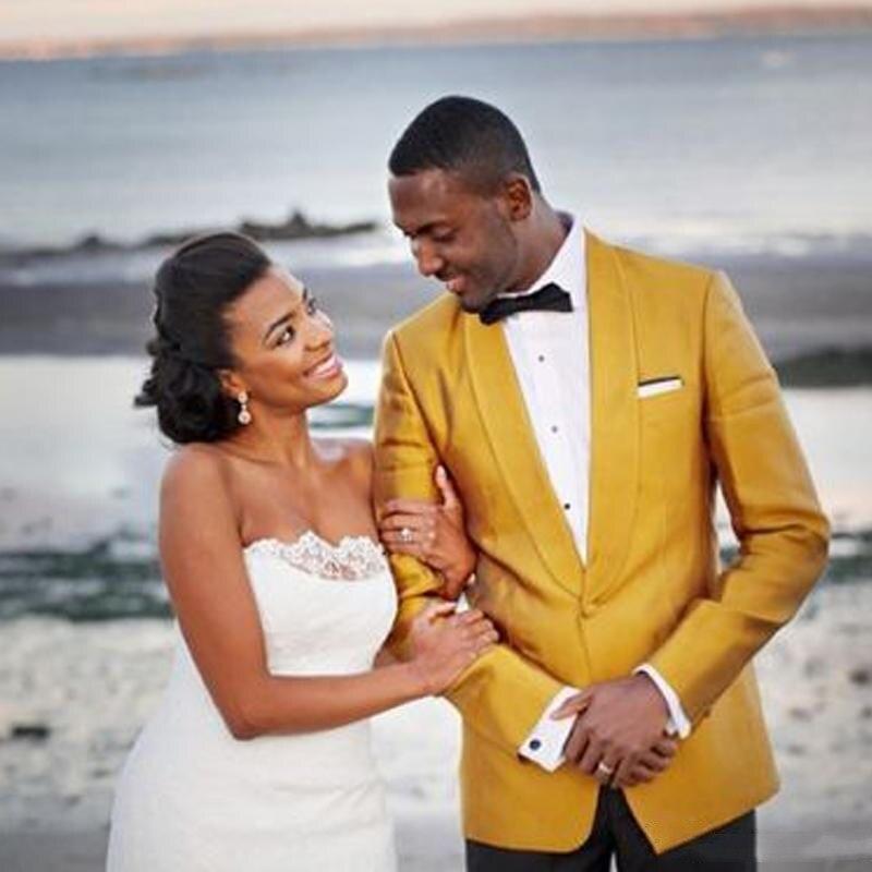 Весенние Свадебные смокинги для жениха на одной пуговице, мужские костюмы на заказ, Мужская одежда, повседневная приталенная одежда, Лидер ...