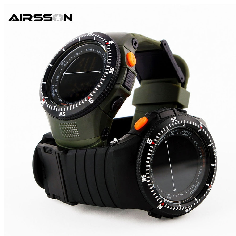 Multifunctional Tactical Watch 50M Waterproof Shockproof Men Sports Watches Outdoor Climbing Hunting LED Digital Wristwatch