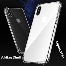Crystal Clear TPU Soft Back Case For iPhone XR With Air-Bag Shock-Proof Aniti-Fall 360° Drop Protec