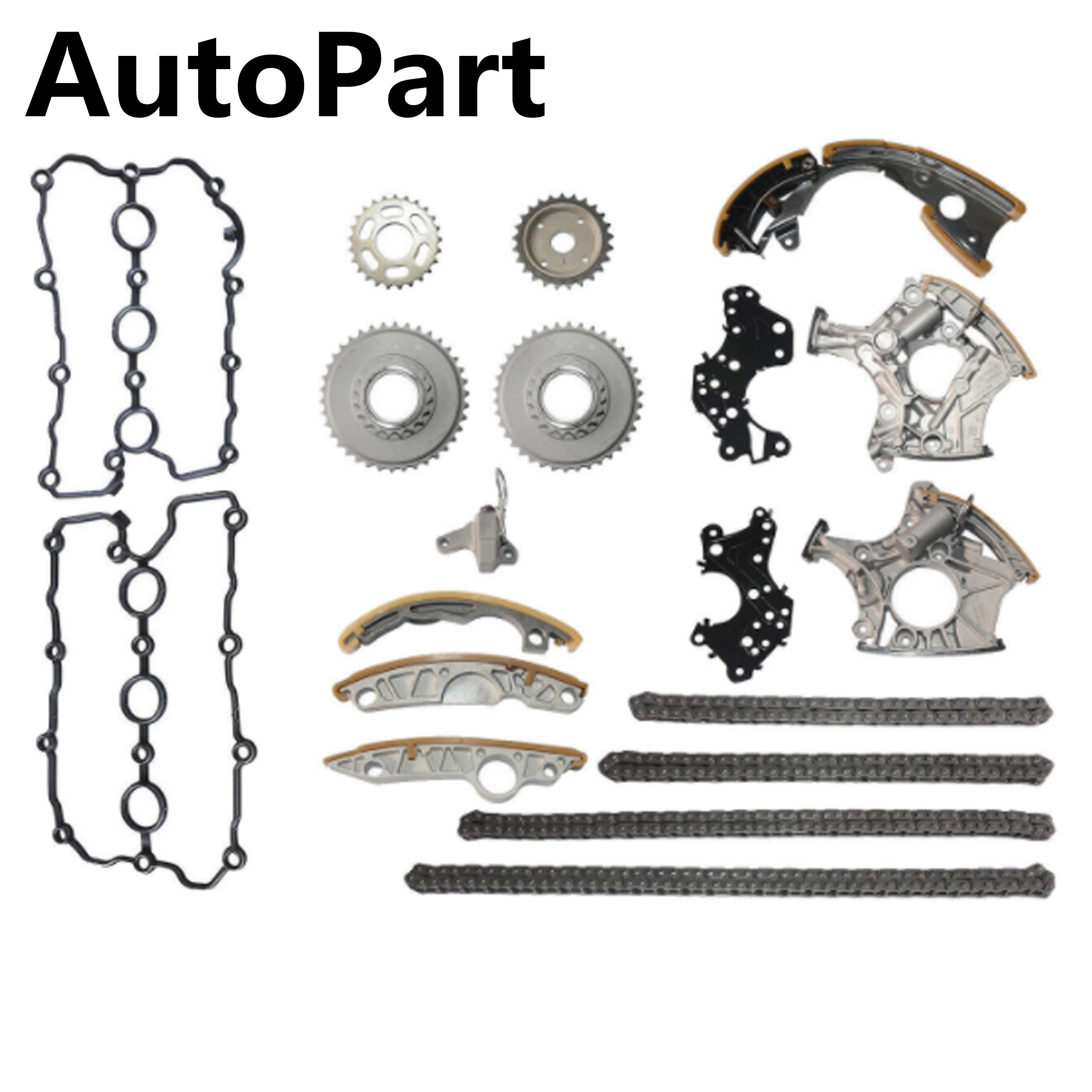 06E 109 507 D 06E 109 465 19PCS Timing Chain Kit With Chain Ternsioners For Audi A4 Quattro A6 Quattro 2.4L V6 3.2l 06E109217H