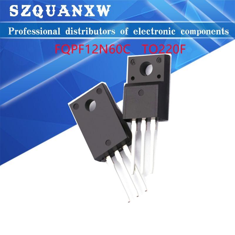 10pcs fqpf12n60c 12n60c 12n60 fqpf12n60 new to 220f 10 шт. FQPF12N60C 12N60C 12N60 600 в 12 а полевой МОП-транзистор стандарта N-Channel, новый оригинальный