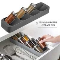 drawer 8 compartments seasoning bottle storage organizer storage box kitchen spice storage rack spice jar storage