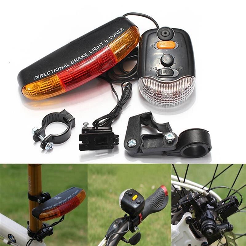 Sinal de freio para bicicleta 3 em 1, luz de led para ciclismo, buzina elétrica