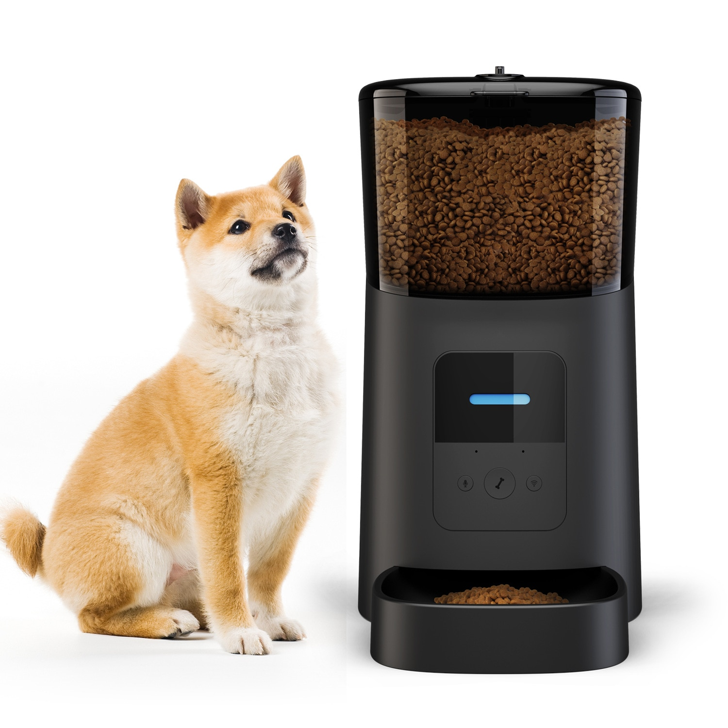 Smart Automatic Slow Feeder Dog Bowl Large Elevated Cat Food Dispenser Pet Water Automatic Comedero Perro Dog Supplies BY50GW