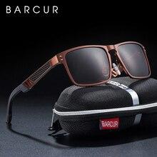 BARCUR tendances Styles Aluminium magnésium verre carré hommes lunettes de soleil polarisées lunettes de soleil pour hommes lunette