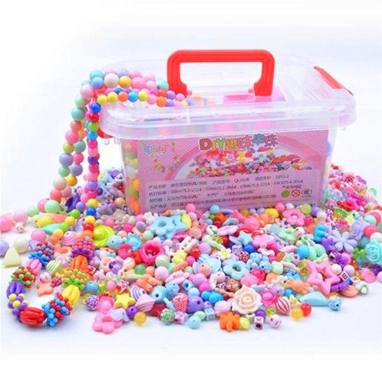 Набор детских браслетов из бисера «сделай сам», забавный браслет из бисера, игрушка для тренировок для девушек с слабым зрением, в большой у...