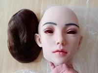 4g emily soft silicone realistic female mask face mask for masquerade halloween mask for crossdresser drag queen transgender