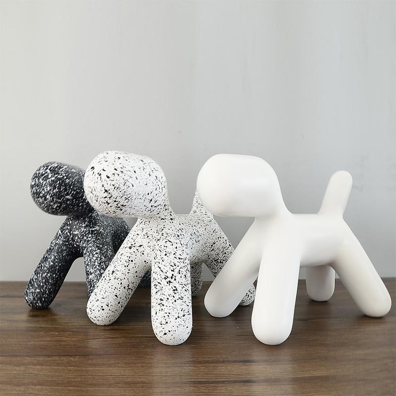 Home Decoration Accessories Resin Creative Balloon Abstract Dog Ornament Model Decoration Desktop Decor Craft Birthday Gift