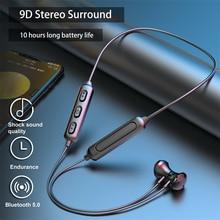 Magnetic Wireless Bluetooth 5.0 Earphones Neckband Stereo Sports Headset Handsfree Earbuds Headphone