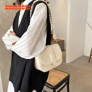 ANOKHOGI Female Big Capacity Alligator Print Shoulder Bag Colorful Korean Style Twist Strap Handbag zx135