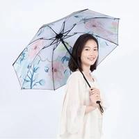 yada custom flower foldable umbrella for women folding princess floral umbrellas waterproof umbrella parasol parapluie ys200039