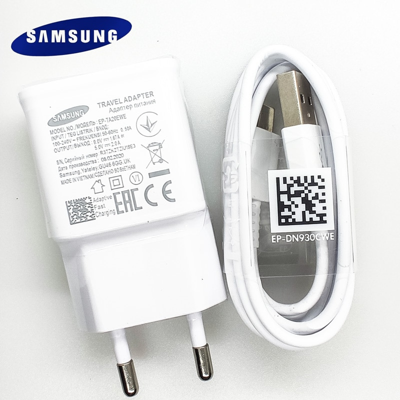Original Samsung Fast Charger 9v/1.67a charge adapter usb c cable Galaxy s8 s9 s10 plus note 10 9 8 a20 a30s a40 a50 a51 a70 a71