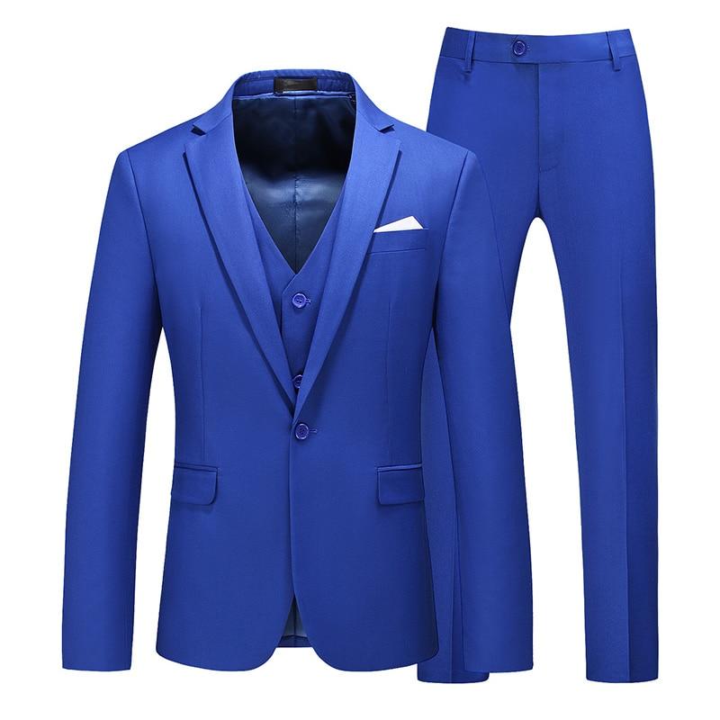 Trajes de novio Banquete de negocios traje para el trabajo traje de tres piezas (chaqueta + pantalón + chaleco) de gama alta blazer de tamaño grande personalizado
