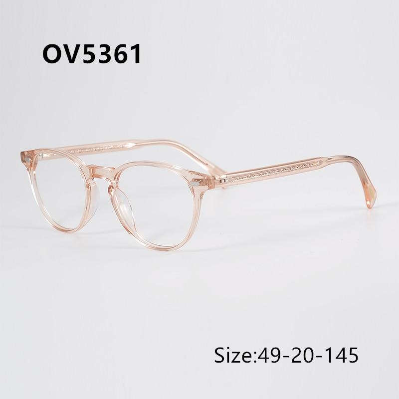 أوليفر OP ماركة OV5361 الوردي إطار المرأة إطارات النظارات العين إطارات النظارات للرجال النساء نظارات واضحة مع صندوق الأصلي
