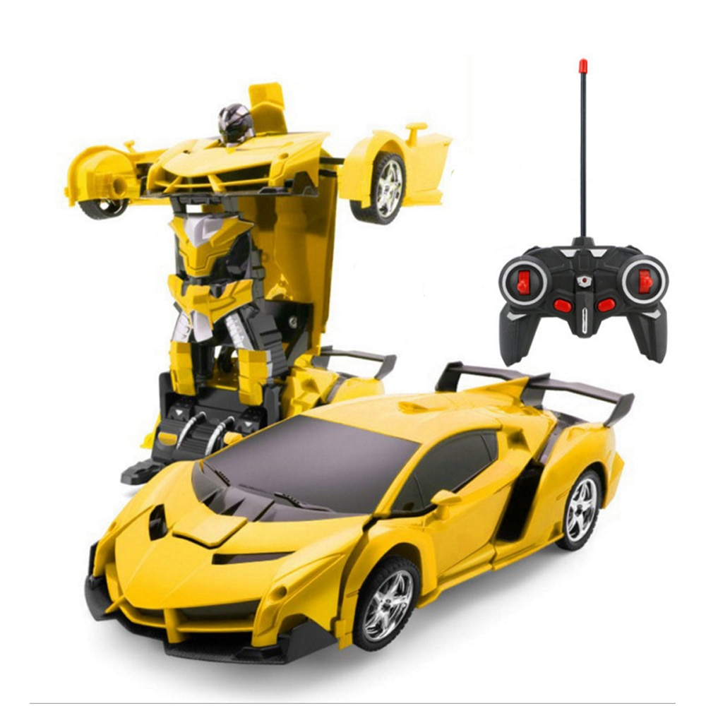 RC Car Toys Transformation Robots Sports Vehicle Model  Robots kids Toys Cool Deformation Car Kids T