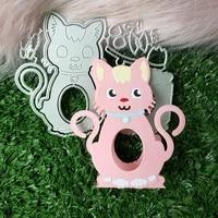 new three dimensional cat metal cutting die scrapbook for photo album paper diy gift card decoration embossed