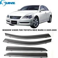 side window deflector for toyota reiz mark x 2005 2006 2007 2008 2009 window visors weathershields wind rain guards sunz