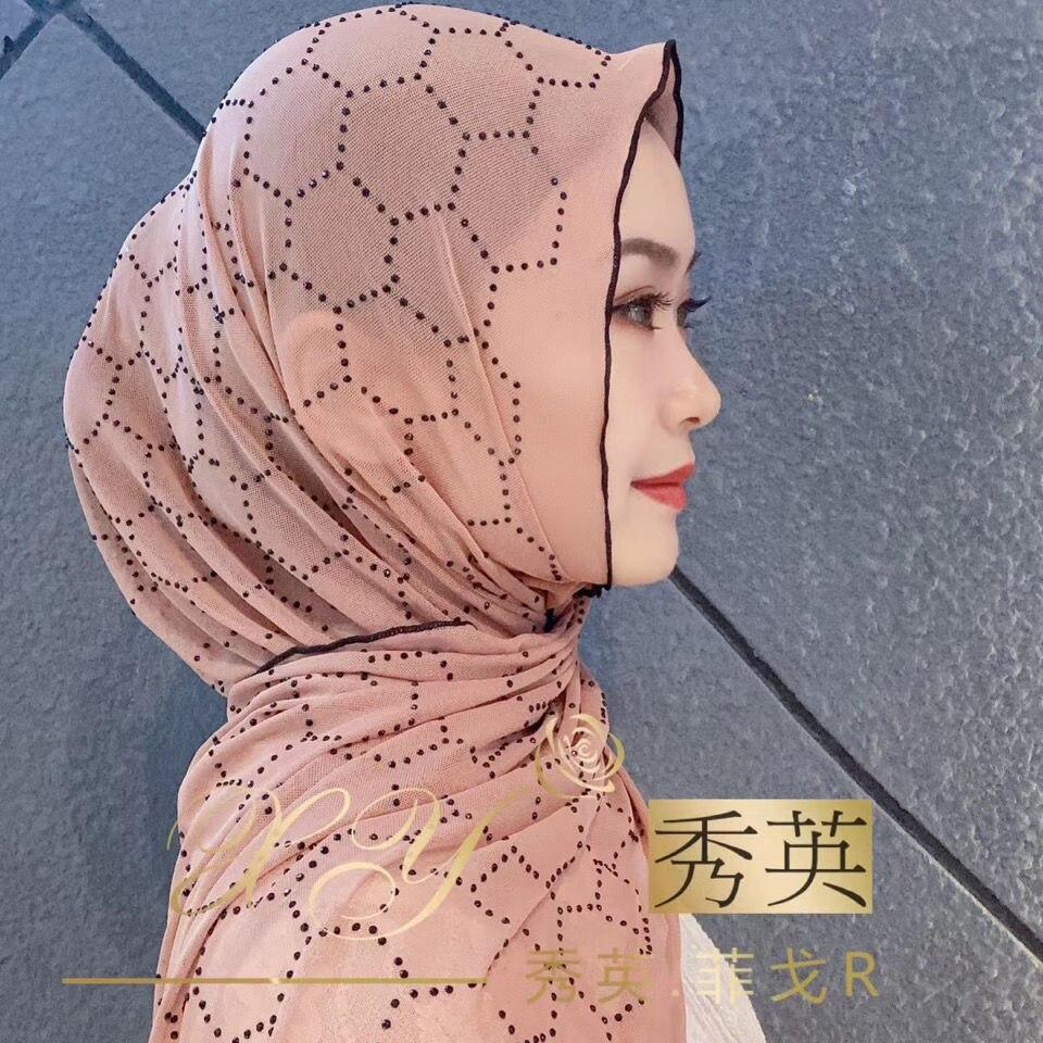 Pañuelo de cabeza musulmán islámico de verano hijabs baratos para niñas