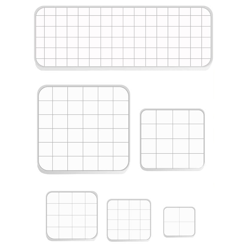 6 Pieces Assorted Sizes Acrylic Stamp Blocks Clear Stamping Blocks Tools Set with Grid Lines for Scrapbooking Album Card Making
