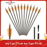 toparchery 61224pcs tactical hunting arrows 15%e2%80%9c military plastic crossbow hunting small bolts steel arrow archery accessory