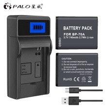 PALO 1pcs digital camera battery BP-70A for SAMSUNG ES65 ES70 ES73 PL80 PL90 PL100 ST30 ST60 SL50 SL600 TL105 TL110 WP10  WB35F