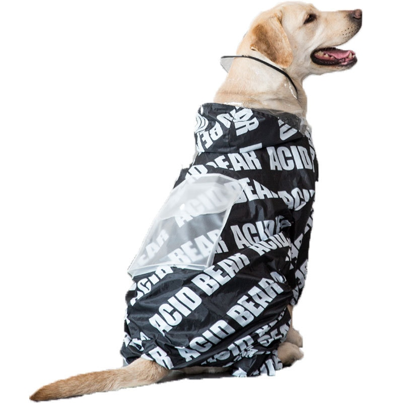 Chubasquero para perros, impermeable de cuatro patas, tamaño mediano, gigante, dorado, chubasquero samoyedo, ropa para perros grandes y Mascotas