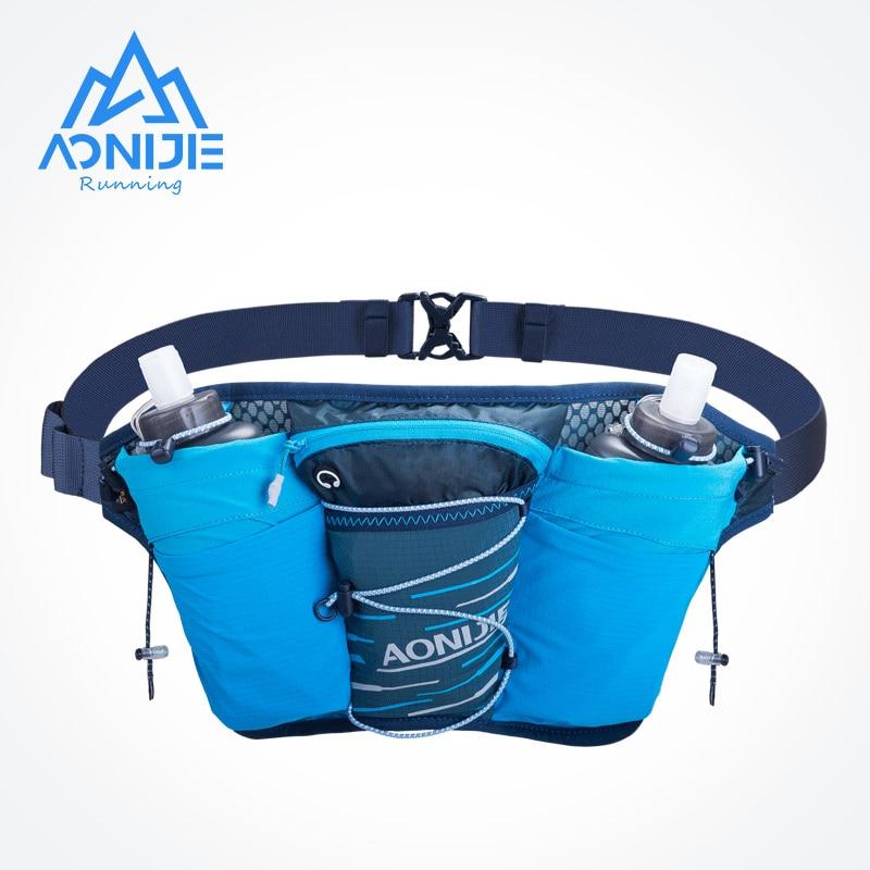 AONIJIE-حقيبة خصر خفيفة الوزن W8104 للرياضات الخارجية ، حزمة مراوح الترطيب ، خزان مياه مزدوج للجري واللياقة البدنية