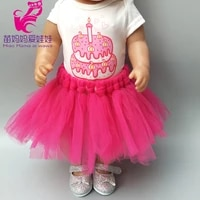 doll dress for43cm baby dolls clothes for 18inch doll lace cake dress baby birthday gift