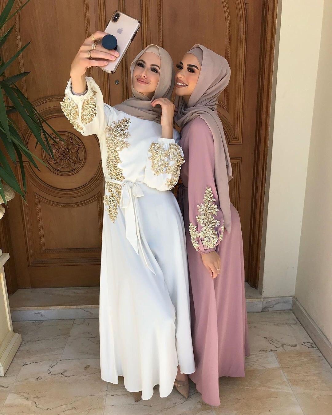 رمضان قفطان فاخر عباية دبي تركيا نساء مسلمات الحجاب فستان إسلام قفطان ماروكين فساتين عيد مبارك رداء الجلابة فام