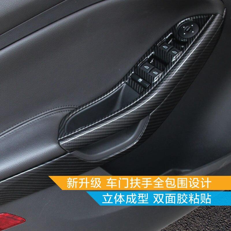 For Ford Focus 2015-2018 ABS Carbon Fiber Interior Trim Sequins, Dashboard Trim Car-styling