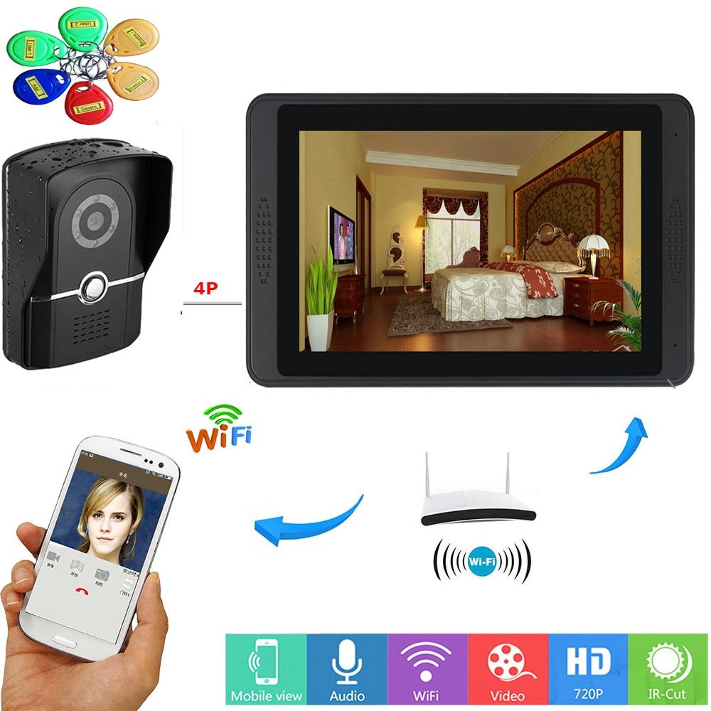 Yobang Security RFID Access Control Video Door Intercom 7 Inch Monitor WIFI Wireless Video Door Phone Doorbell Intercom System