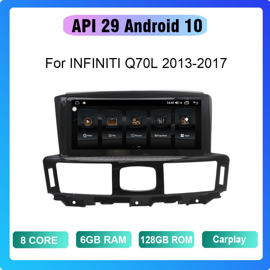 COHO For INFINITI Q70L 2013-2017 Android 10 8 Core 6+128G Gps Coche Radio Android Car Multimedia Pla