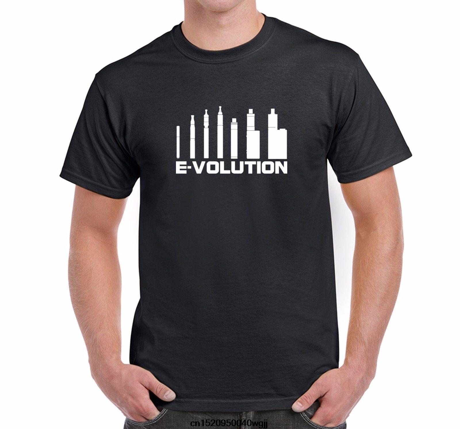 Men's Novelty Vaping T-Shirt Evolution of Vaping Pens Mods Short Sleeves 100% Cotton Summer O-Neck Hipster Tops T Shirt