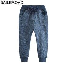 SAILEROAD-pantalon Long pour garçon   Pantalon dautomne, en coton, poches, pour enfants