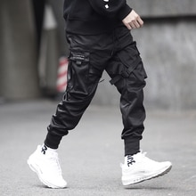 kpop motorcycle pants hip hop fashion male joggers black casual trousers harajuku modis pantalones streetwear reflective joggers