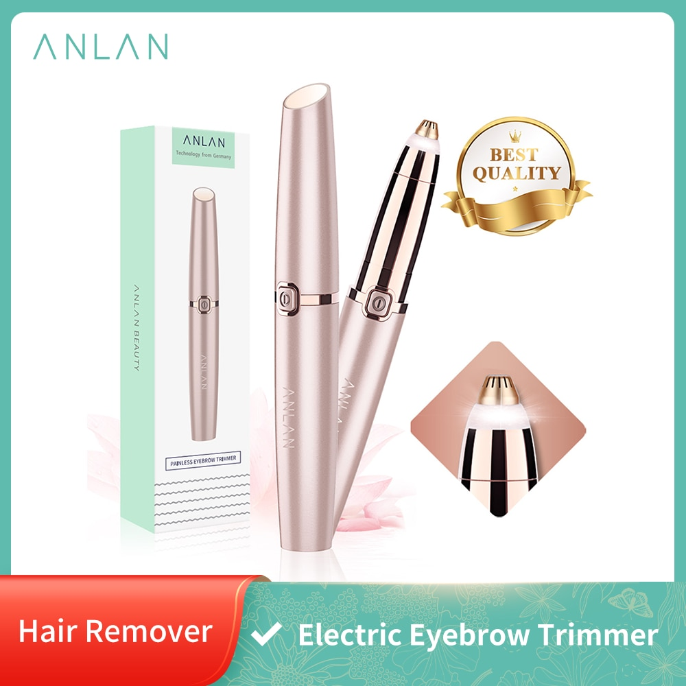 ANLAN Electric Eyebrow Trimmer Makeup Painless Eye Brow Epilator Mini Shaver Razors Portable Facial