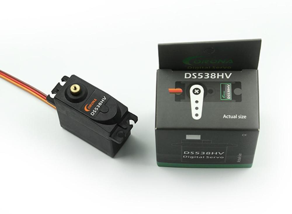 Corona DS538HV Digital Metal Gear estándar Servo 8kg/0,12 segundos/58g para RC avión coche RC