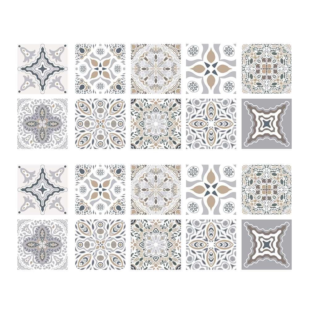 20pc telha adesivos pvc impermeável à prova de óleo auto adesivo diy cozinha banheiro estilo marroquino telha adesivo de parede