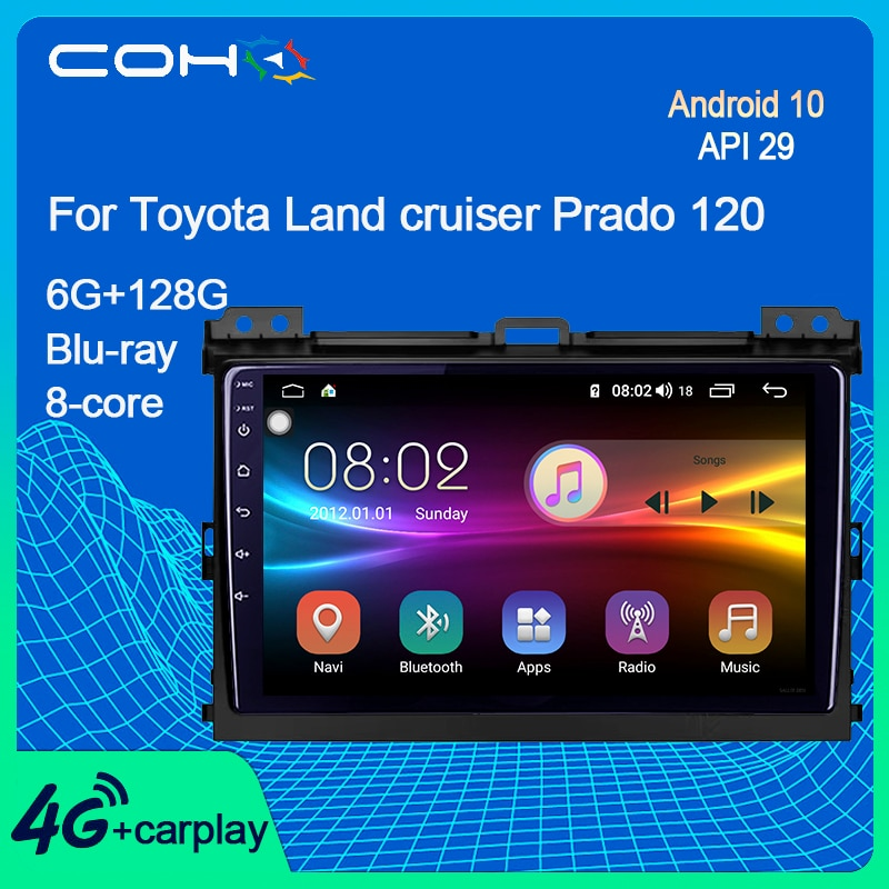 COHO For Toyota Land cruiser Prado 120 Car Radio Multimedia Player Autoradio Gps Navigation Android