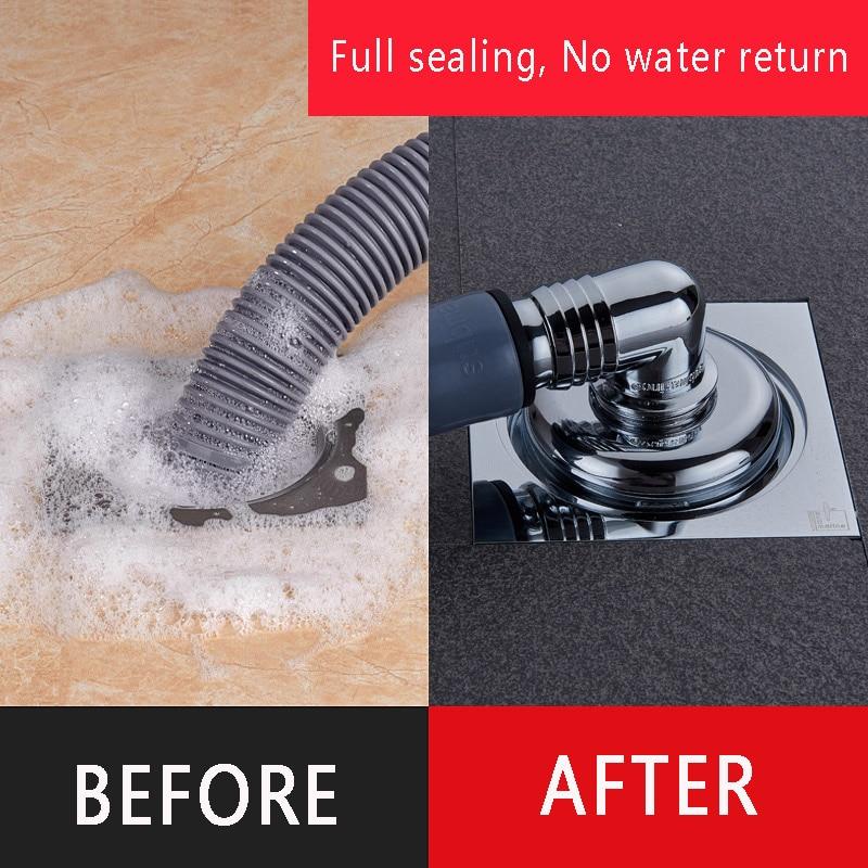 Washing machine special floor drain tee joint drain cover toilet deodorization drain sealing artifact enlarge
