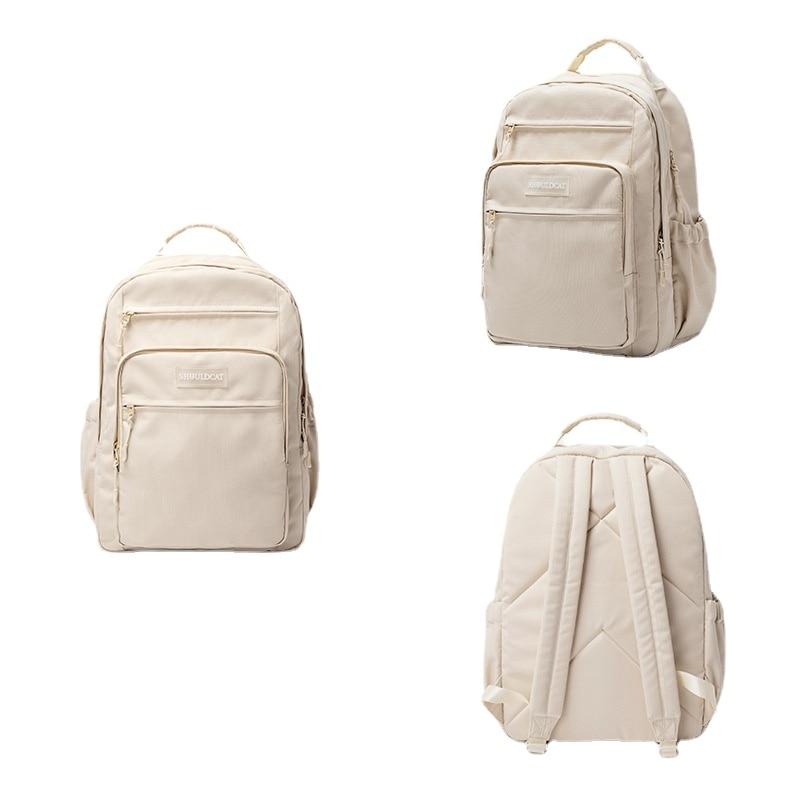 Cabron Ice Cream Waterproof Backpack High Capacity Computer Bag Student Schoolbag Fiber Travel Bag
