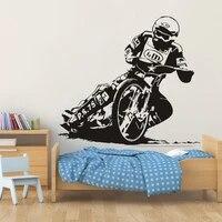 motorcyclist wall sticker motorcycle racing vinyl decal racer home decor bedroom living room decoration motorcross art mural