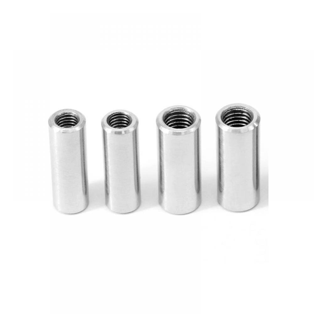 1 unidad M8 tornillos de conector redondo de varilla de acero inoxidable A2 tubo de barra de manga de rosca 20 25 30 35mm de longitud