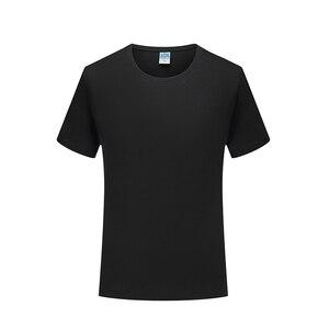 Men's new simple leisure comfortable mercerized cotton high quality T-shirt pure cotton round neck short sleeve T-shirt