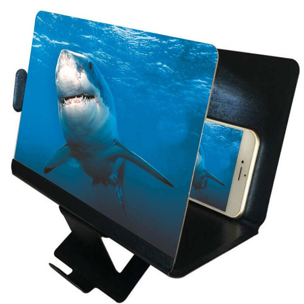 Desktop Phone Holder Stand Universal Mobile Phone Screen Magnifier 3D Enlarger Magnifying Video Ampl