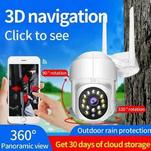 1PC WIFI IP Camera Wireless 1080P IP66 MicroSD Night Vision 10m CCTV HD PTZ Smart Home Security Outdoor IR Internet network Cam