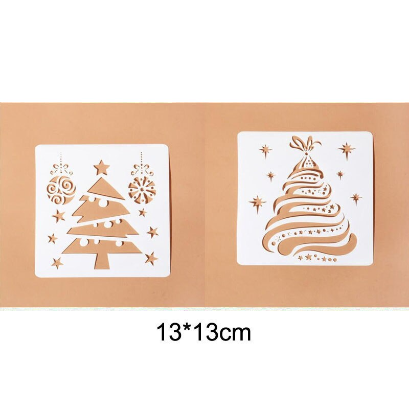 plastic stencils template for walls scrapbooking painting phone album decor embossing paper card diy craft fairy layering Christmas Tree Layering Stencils Walls Painting Scrapbooking Stamp Album Decor Embossing Paper Card Template Stencil Reusable