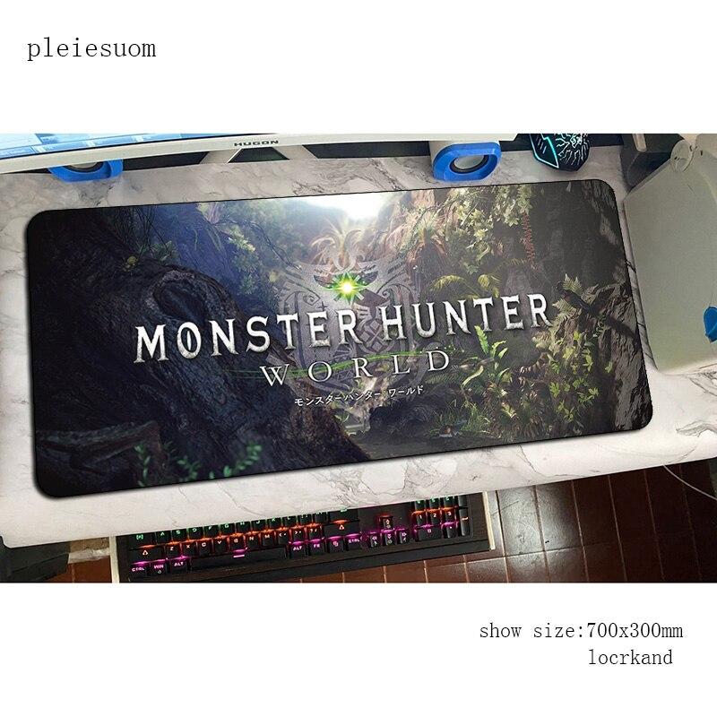 Alfombrilla de ratón monster hunter para gamer 800x300x3mm 3d, alfombrilla para ratón, alfombrilla grande Xxl para ratón, alfombrilla para ratón, alfombrilla para escritorio, alfombrillas para ratón