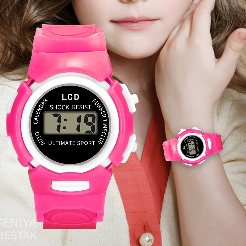 Kids Watch Boys Girls Relogio Digital Trendy Shockproof Life Waterproof LCD Electronic Wristwatch Gi