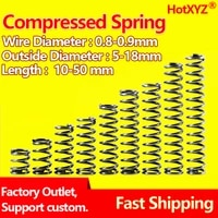 hotxyz cylidrical coil compression spring rotor return pressure compressed spring steel 65mn wire diameter 0 8mm 0 9mm